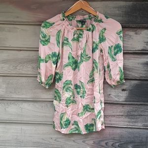 The Webster Miami flamingo ivy pink silky top